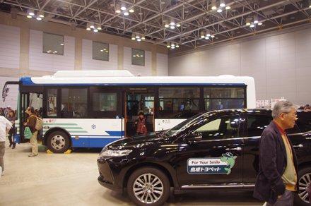 路線バス・ハイブリッドカー展示(松江市交通局)